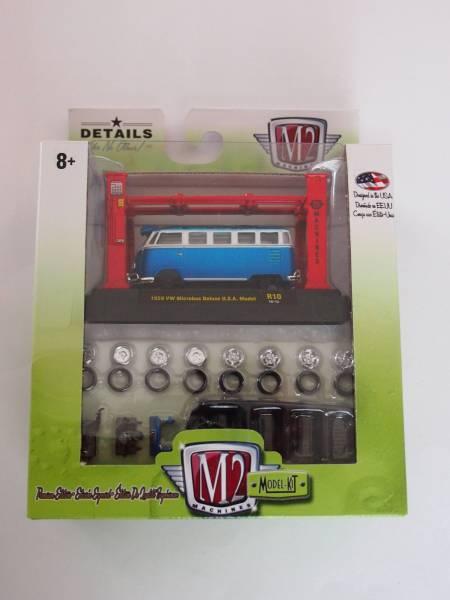 M2 MACHINES 1:64scale MODEL-KIT VW Microbus Deluxe U.S.A Model BLUE 入手困難_画像1