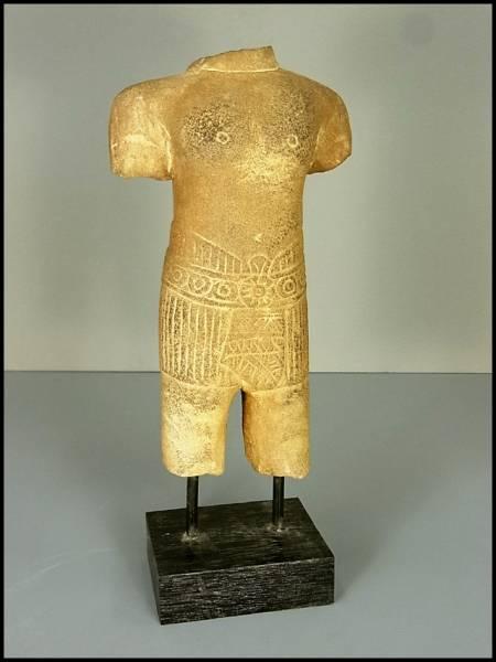 石仏 石像 置物/(発掘カンボジア クメールアジアインドチベット西蔵シルクロード仏教美術十三仏)7D4