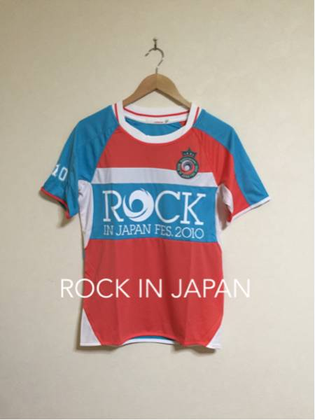 【美品】ROCK IN JAPAN FES.2010 ロックインジャパン フェス 2010 #10 サッカー ユニフォーム サイズS 半袖