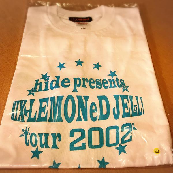 hide HIDE MIX LEMONeD JELLY TOUR 2002 グッズ Tシャツ ブルー サイズ150