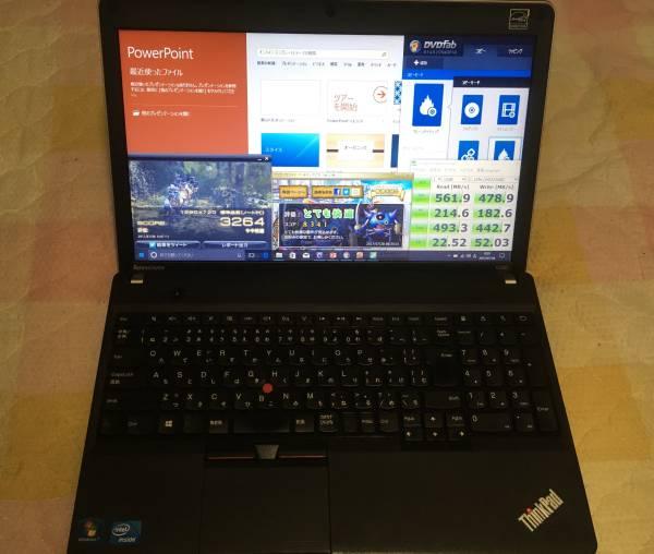 爆速!!Lenovo E530/SSD256GB/8GB/i5-3340/Office2016/ドラクエ10/FF14/Thinkpad/黒い砂漠
