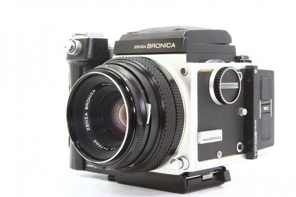 ZENZA BRONICA ブロニカ ETR 645判 一眼レフカメラ + ZENZANON MC 75mm F2.8 ワインダー付き 送料無料_画像2
