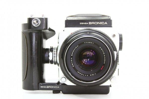 ZENZA BRONICA ブロニカ ETR 645判 一眼レフカメラ + ZENZANON MC 75mm F2.8 ワインダー付き 送料無料_画像3
