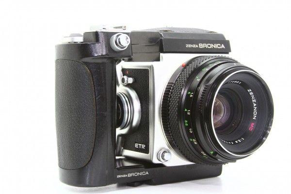 ZENZA BRONICA ブロニカ ETR 645判 一眼レフカメラ + ZENZANON MC 75mm F2.8 ワインダー付き 送料無料