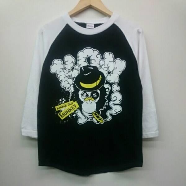 KNOCK OUT MONKEY ノック・アウト・モンキー ラグランTシャツ Sサイズ KOM 日本 ロックバンド