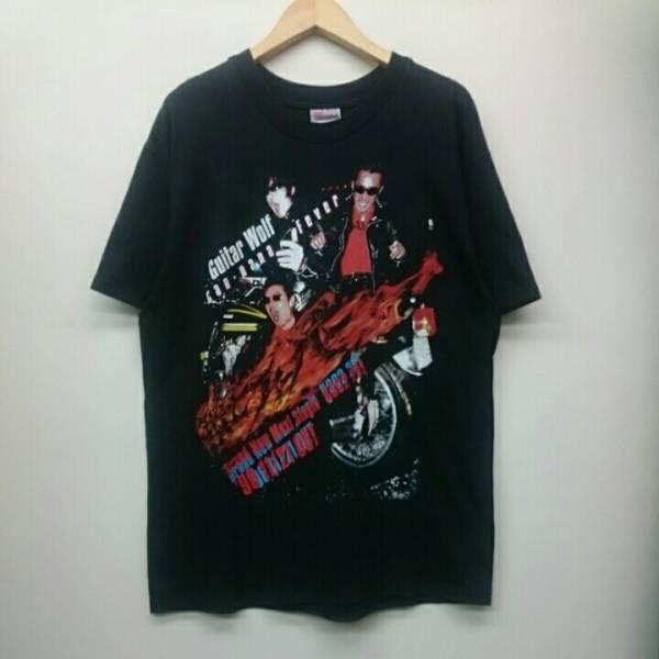 90年代 Guitar Wolf ギターウルフ 環七フィーバー Hanes Tシャツ 日本 ロックバンド