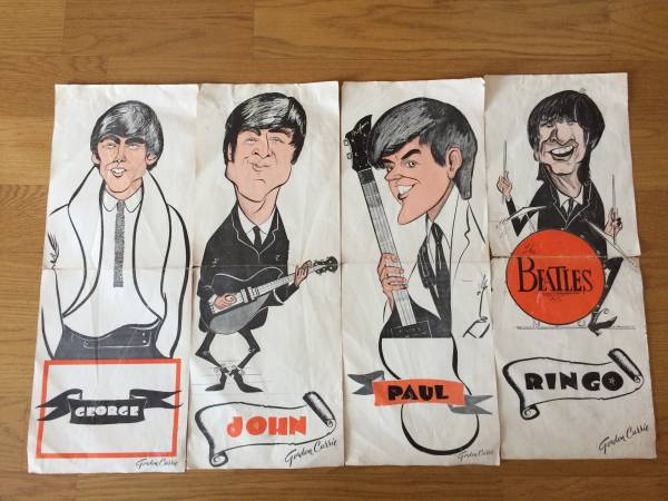 BEATLES 4枚セット ビンテージポスター 70年