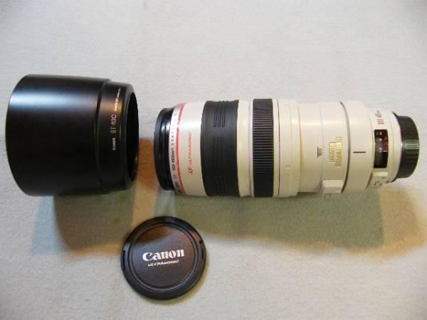 ★CANON キヤノン EF 100-400mm F4.5-5.6L IS USM 最高峰 Lレンズ 純正新品フード付 USED★