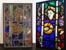 アンティーク ステンドグラス ガラス窓 建具 扉 ドア 戸