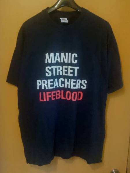 Manic Street Preachers LIFE BLOOD TOUR 2004 Tシャツ マニック ストリート プリーチャーズ 送料168円~/ ロック バンドT Travis coldplay