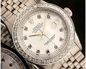 ◆ロレックス デイトジャスト 1601 ブラックダイヤモンド×ホワイトダイヤル OH済美品 保証付◆