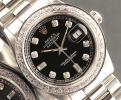 ◆ロレックス パーペチュアルデイトジャスト 1601 8+2ダイヤモンドダイヤル OH済 保証付◆
