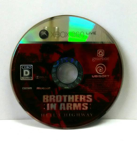 XBOX360 ブラザー イン アームズ ヘルズハイウェイ  BROTHERS IN ARMS HELL'S HIGHWAY (ディスクのみ)  送料164円