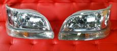 『ジャンク品』 100系 ハイエース ワゴン 後期 純正 タイプ クリア ヘッド ライト & ウィンカー セット