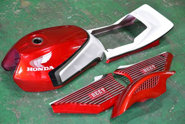 GY19 CBX400F 外装 セット/ 赤白2型 風COLOR/CBX550F塗立て キジマBEETビート メッキ タンク 一式 アルフィン CBX400FF F2