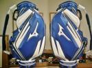 美品 ミズノ ランバード 合皮 ブルー青白 本格3点式プロモデル