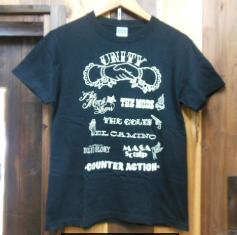 THE MODS , COUNTER ACTION Tシャツ 森山達也 MACKSHOW COLTS モッズ LOVE KILLS
