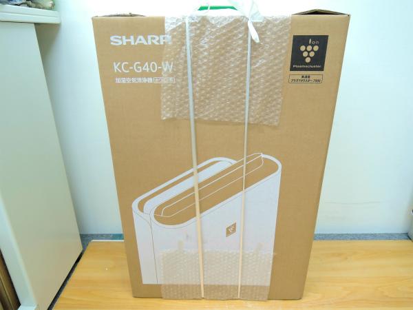 新品 SHARP◆シャープ 加湿空気清浄機◆KC-G40-W