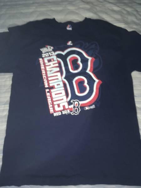 Boston Red Sox 2013年ALチャンピオンT 未使用品 マジェスティック製 Lサイズ レッドソックス 送料込み 即決 グッズの画像