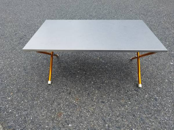UNIFLAME キッチンスタンドII ステンレス天板使用 脚部分自作テーブル 高さ27㌢