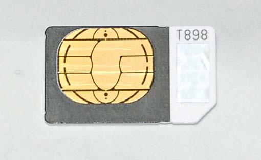 SoftBank 携帯電話 ソフトバンク 黒 iPhone3Gs SIMカード シムカード 起動用 アクティベーション アイフォーン 解約済 アップル 定形郵便可_サンプル画像