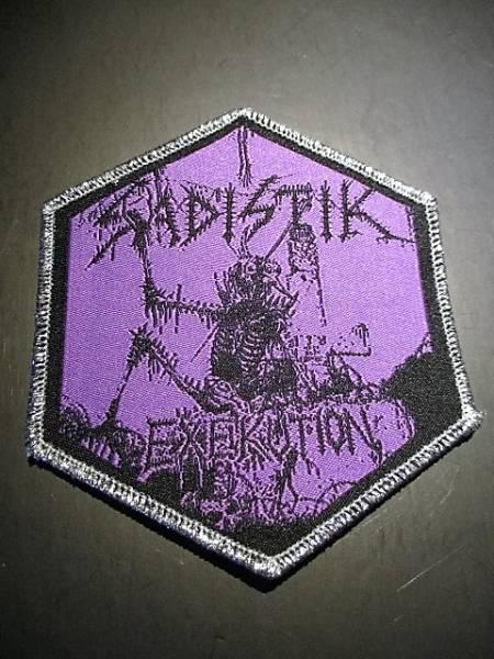 SADISTIK EXEKUTION 刺繍パッチ ワッペン 紫 / slayer bathory possesed merciless mayhem impaled nazarene