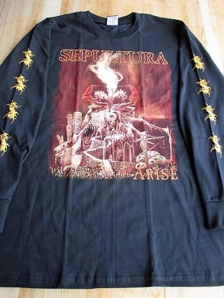 SEPULTURA 長袖 Tシャツ arise 黒M ロンT セパルトゥラ / venom bathory kreator slayer sodom
