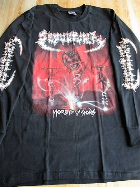 SEPULTURA 長袖 Tシャツ morbid visions 黒M ロンT セパルトゥラ / venom bathory kreator slayer sodom cogumelo