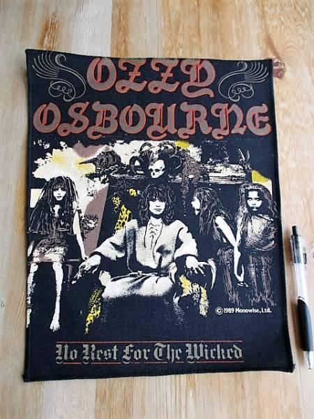 当時物 OZZY OSBOURNE プリントバックパッチ no rest for the wicked デッドストック ヴィンテージ オジー・オズボーン / black sabbath