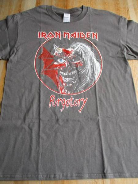 IRON MAIDEN Tシャツ purgatory グレーM アイアンメイデン / metallica motorhead judas priest