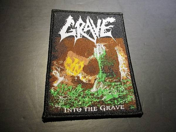 GRAVE 刺繍パッチ ワッペン into the grave / slayer sodom possessed asphyx autopsy exhumed nihilist entombed dismember