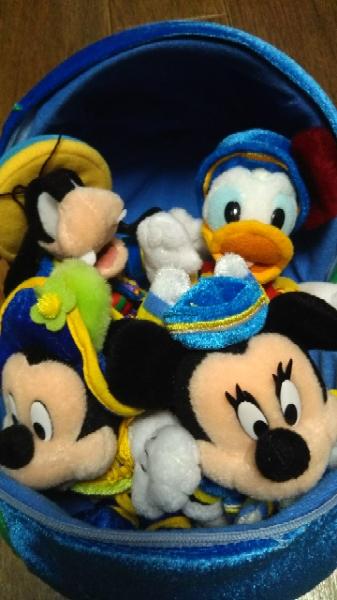 【未使用】ディズニー シー オープニング グッツ ぬいぐるみ (ミッキー・ミニー・グーフィー・ドナルドダック) ディズニーグッズの画像