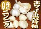ホワイト6片種 青森県産 にんにく(ニンニク) Mサイズ 2kg