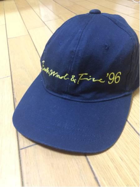 "R&B ""アースウインド&ファイアー 1996年 ジャパンツアーキャップ ネイビーカラー"""