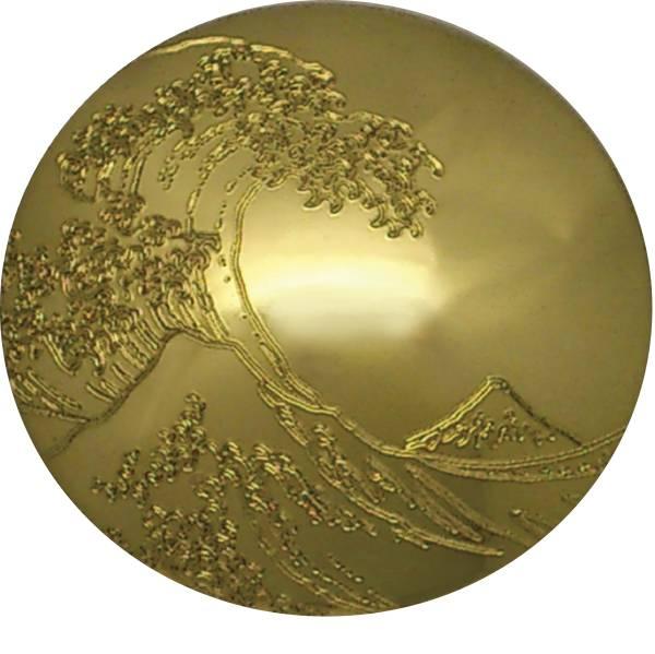 浮世絵 コンチョ UKY-3ZL-N 真鍮 (しんちゅう) 24ミリ ネジ式 1個