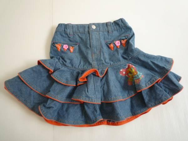 【お得!!】◆K.L.C◆ 裾フリルスカート デニム 女の子 120