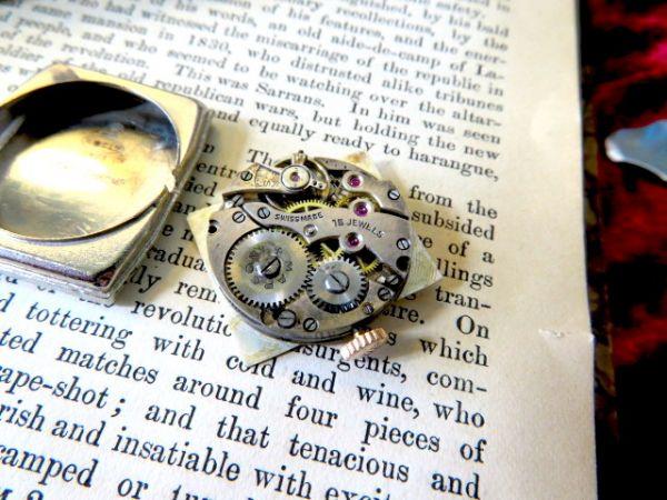 ロレックスのマルコー二★手巻き式のROLEX MARCONI 当店オリジナルのクロコダイルバンド ゴールドのケースが美しい アンティーク腕時計_画像3