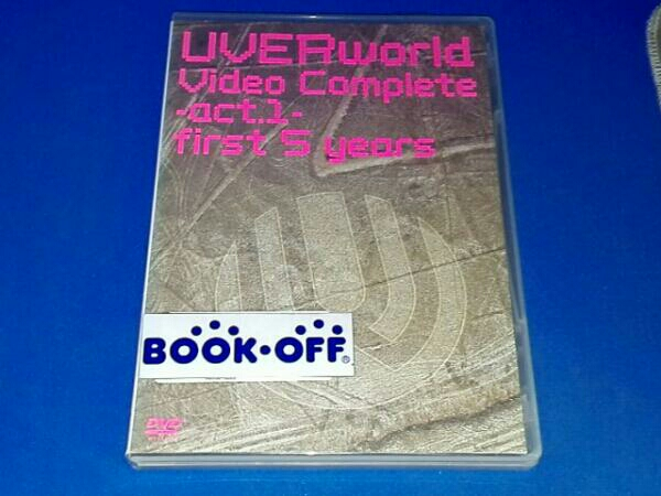 UVERworld Video Complete-act.1-first 5 years ライブグッズの画像