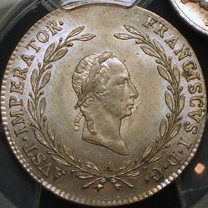 【オーストリア銀貨】(PCGS-MS62 1826年 PCGS記録2位)