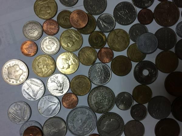即決!! 外国硬貨、古銭、記念硬貨 など まとめ (紙幣は2枚のみ)_適当に一部をアップした画像