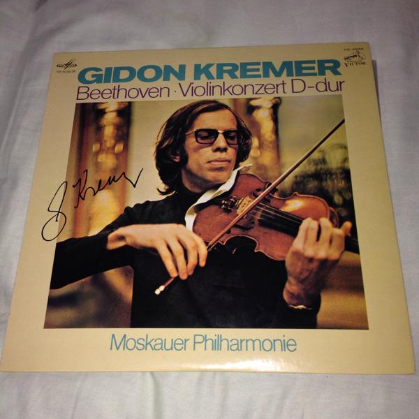 ギドン・クレーメル Gidon Kremer 直筆サイン入りレコード 国内盤