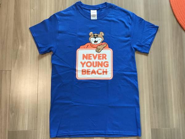 【未着用】 never young beach ネバヤン グッズ / クマTシャツ 青 Sサイズ