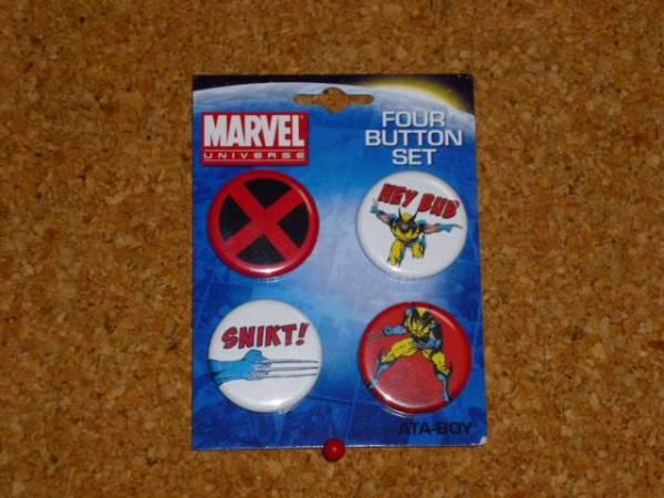 新品 X-MEN X-メン 缶バッジ セット アメコミ ヒーロー マーベル marvel 映画 ピンズ バッチ グッズ グッズの画像