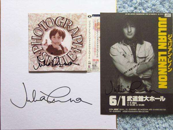 ☆ジュリアンレノン 直筆サイン入りCD&チラシ&色紙!