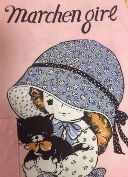ヴィンテージ 昭和レトロ エプロン 女の子 猫 子供用