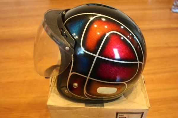 ビンテージ ヘルメット ELECTRO HELMETS 当時物 ラメ パネルデザイン 検索 / BUCO BATES_画像2