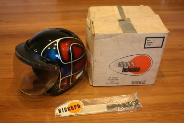 ビンテージ ヘルメット ELECTRO HELMETS 当時物 ラメ パネルデザイン 検索 / BUCO BATES_画像1