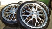 軽サイズ165/45超美品ロクサーニ632マルチフォルケッタBBS風タイヤ新品メッシュホイール5.5Jツライチ軽自動車等タントムーヴミラワゴンR