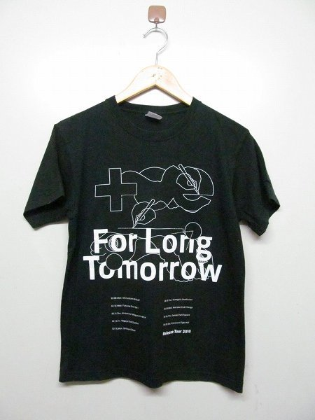 toe トー for long tomorrow リリースツアー 2010 Tシャツ 黒 S b4067