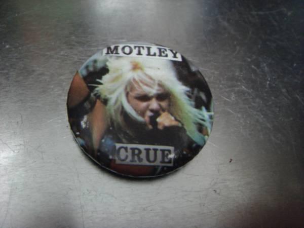 ビンテージ80's デッドストックMotley Crueモトリー クルーVince Neilヴィンス・ニール缶バッチOLDオールド ピンズ